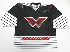 PHILADELPHIA WINGS NLL LACROSSE BLACK PRO AUTHENTIC REEBOK JERSEY SIZE 54