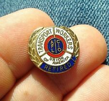 NO WING old AFL CIO transport TRADE UNION twu retired tie tack lapel pin vintage