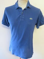 "Genuine Vintage Lacoste men's Blue Polo Shirt Size S 34-36"" Euro 44-46"