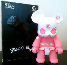 "QEE 8"" BEAR HUCK GEE MAMA'S BOY PINK GID LE 100 GLOW DARK COLLECTIBLE TOY2R TOY"