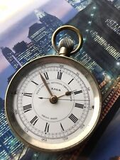 Liga Crhonograph Swiss Mechanical Working Solid Pocket Watch