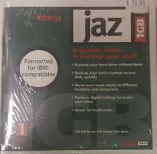 1 pack 2GB Jaz discs opened IBM capable no writing on disc lable