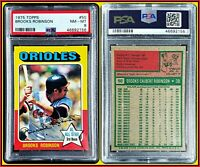 1975 Topps #50 Brooks Robinson PSA 8 NM-MT Near Mint Orioles MLB Baseball HOF