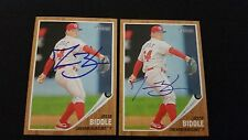 Jesse Biddle 2011 Topps Heritage #65 Blueclaws Phillies Signed Autograph JA15