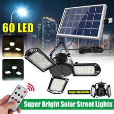 60 LED Super Bright Solar Street Lights Angle/Brightness Adjustable Timer