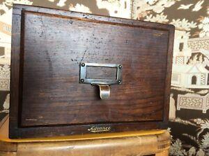 Vintage Oak Filing Caninet 'Advance' 1920s Super Storage / Memory Box