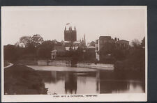 Herefordshire Postcard - River Wye & Cathedral, Hereford    RS4874