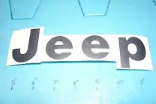 """JEEP NOS """"JEEP"""" Decal-Fits 1992-1995 Jeep Wrangler-5AS15LJ4-BLACK"""