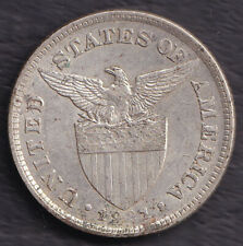 1921 US Administration Philippines 50 CENTAVOS Silver Coin