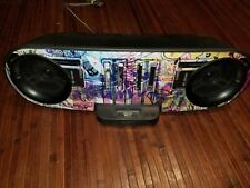 Sony RDH-SK8iP Graffiti Home Audio Docking Station For Older Apple iPods/iPhones