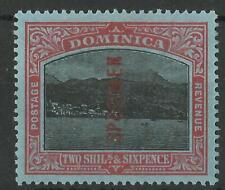 DOMINICA 1908-20 KGV 2/6d SPECIMEN SG 53cs MINT