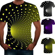 Funny Hypnosi 3D T-Shirt Men Women Graphic Casal Fashion Short Sleeve Tee Top AU