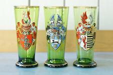 3 x Wappen Glas Becherglas Heraldik Adel Freiherr v. Wangenheim etc.