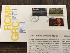 Canada 🇨🇦- 1973 Royal Canadian Mounted Police, Fdc W/Stamp Bulletin