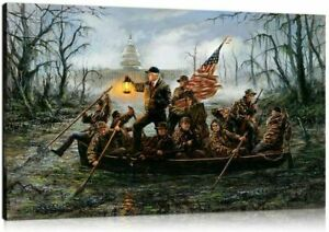 Crossing the Swamp Donald Trump Art Print Jon McNaughton