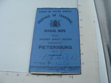 1922 Union of South Africa - Procince of Transvall Official Map -- PIETERSBURG
