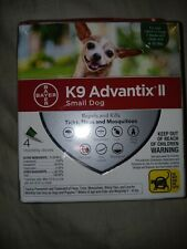 NEW + SEALED -Bayer K9 Advantix II Flea & Tick Treatment for Small Dogs - 4 Pack
