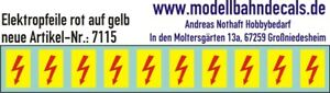 10 Tt-Elektropfeile 1,8 X 1 MM - Red On Yellow Sign 120-7115