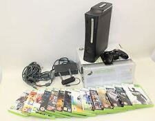 MICROSOFT XBOX 360 Elite Console 120GB Wireless Controllers 14 Video Game Bundle
