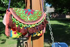 INDIAN  INDIA VINTAGE  EMBROIDERED GYPSY BANJARA CLUTCH SLING Crossbody BAG Boho