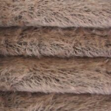 """1/6 yd 300S/C Antq Pink Dark Back Intercal 1/2"""" Ultra-Sparse Curly Mohair Fabric"""