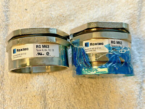 {2} lot *Roxtec Gland RG M63 - Cable Gland - TYP 4, 4x, 12, 13 ** USED Clean**