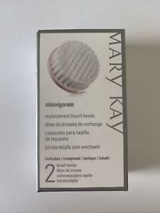 MARY KAY SKINVIGORATE CLEANSING BRUSH HEADS~NIB~2 REPLACEMENT HEADS