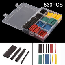 530 pcs Heat Shrink Tubing Tube Assortment Wire Cable Insulation Sleeving Kit