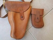 CZECH ARMY VZ61 SCORPION LEATHER SHOULDER HOLSTER W/ MAG POUCH light used cond.