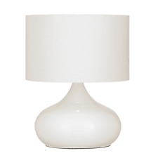Table Lamps Homerton Touch White 40W Endon X2 NEW (P)