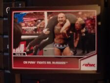 2013 Topps Best of WWE #52 CM Punk Fights Mr. McMahon BLUE Parallel