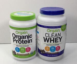 Orgain, Organic Protein & Clean Whey, Creamy Chocolate Fudge, 2 Pack