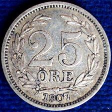 25 ORE 1907 EB SVEZIA SWEDEN ARGENTO SILVER #1377A