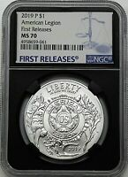 2019 P $1 Silver American Legion 100th Anniversary NGC MS70 First Releases