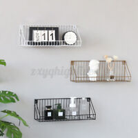 Large Iron Wall Mounted Shelf Storage Rack Floating Shelves Organizer Home