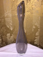 Hand Blown Art Glass Vase By Vicke Lindstrand for Kosta Boda Sweden Pinstripe
