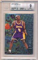 1996-97 Fleer Metal Kobe Bryant Rookie RC #181 BGS MINT 9 with 2x 9.5 Lakers