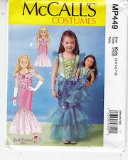 McCall's 449 Mermaid Costume Dress Child Doll Ruffle Sewing Pattern Sizes 3-8