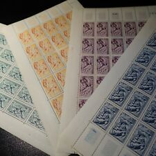 FEUILLE SHEET SÉRIE DES SAISONS N°859/862 x25 1949 NEUF ** LUXE MNH