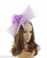 Lilac Fascinator Hat For Weddings/Ascot/Proms With Headband G8