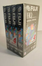 Fuji HQ General Purpose VHS Tape T-120 Sealed 4 pack NEW
