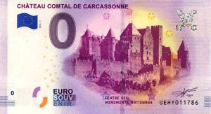 11 CARCASSONNE Château comtal, 2019, Billet Euro Souvenir