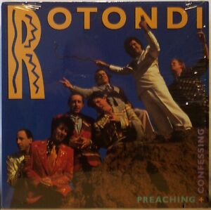 ROTONDI Preaching + Confessing LP Polka Rock, In Shrink/M- record on ROM Records