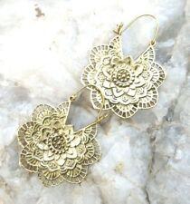 Tribal Brass Earrings Gypsy Hoop Ethnic Festive jewellery Boho45