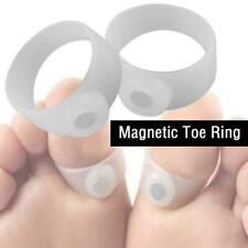 Foot Massage Weight Loss Ring Magnetic Silicone Toe Fat Pair Slimming Reduc P4Z3