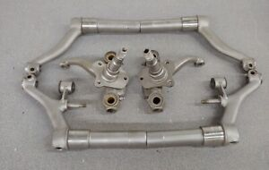 NICE USED ORIGINAL GENUINE PORSCHE 356A FRONT CONTROL ARMS SPINDLE SETUP NLA