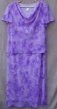 COLDWATER CREEK Pretty Long 2 Pc Look Sundress Dress Lavender Paisley 22W 2X