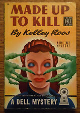 Kelley Roos Made Up to Kill Gerald Gregg Vintage PB Mystery Dell 106 Map Back