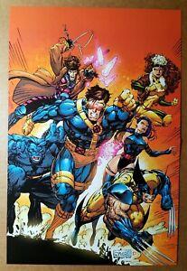 X-Men Gambit Wolverine Rogue Beast Cyclops Psylocke Marvel Comic Poster Jim Lee