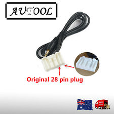 AUX cable for Toyota Audio head unit Camry Hilux Corolla Hiace Mobile Iphone OZ